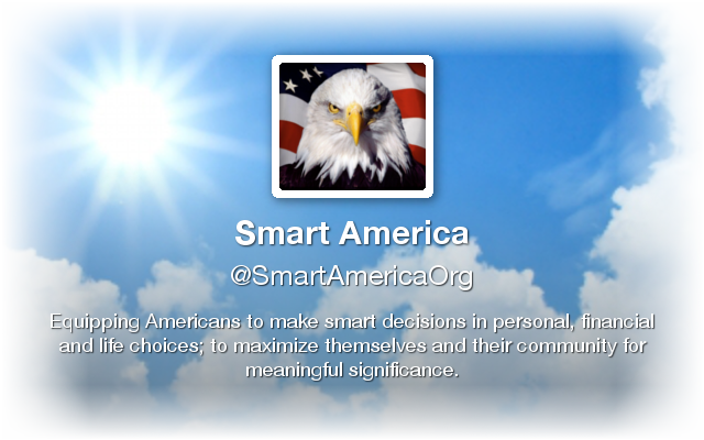 Smart America - Equipping young people to make smart decisions in personal, financial and life choices; to maximize themselves and their community for meaningful and eternal significance.